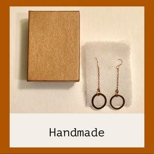 Handmade Artisan Gold Tone Earrings